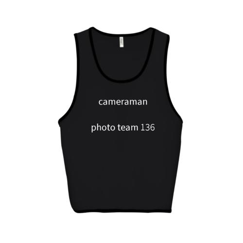 「cameraman photo team 136様」オリジナルビブスデザイン