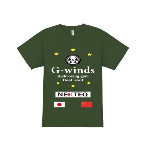 G-windsキックボクシングジムのTシャツ