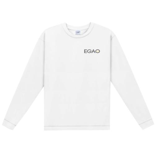 「EGAO」ワンポイントデザインのオリジナルTシャツ