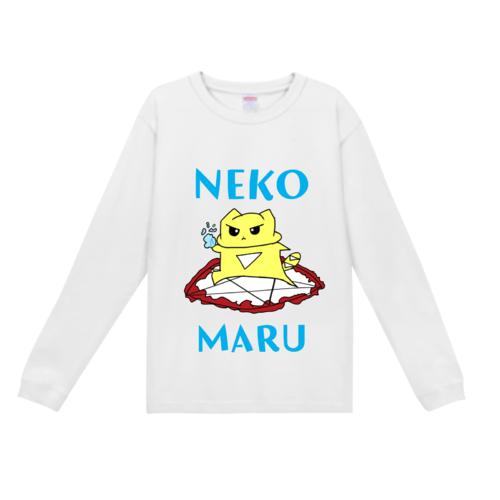 オリジナルイラスト「NEKO MARU」デザインのオリジナルTシャツ
