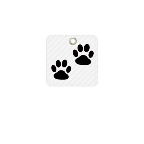 動物の足跡をシンプルにデザインしたオリジナルキーホルダー