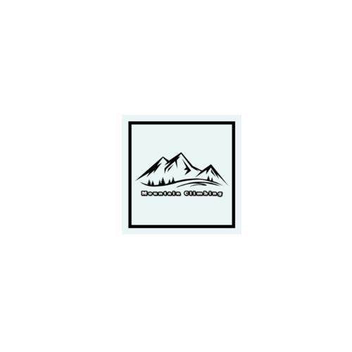 オリジナルで作った登山のロゴをプリントしたオリジナルステッカー
