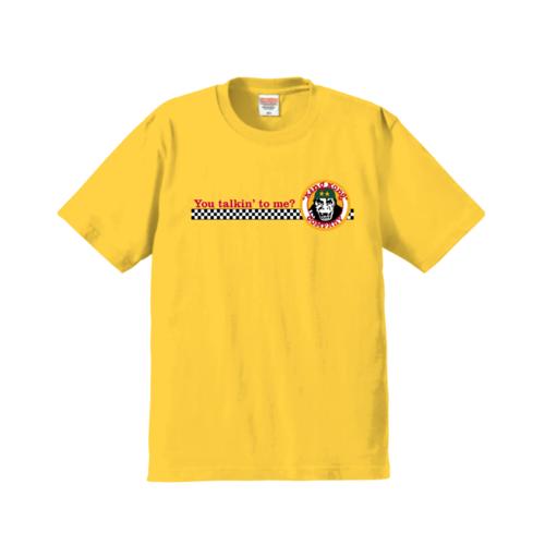 「You talkin' to me?」とイラストを組み合わせてデザインしたオリジナルTシャツ