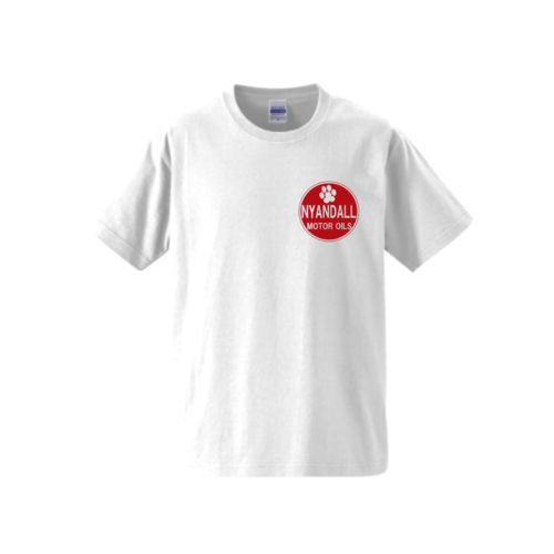 「NYANDALL MOTOR OILS」ロゴデザインのオリジナルTシャツ