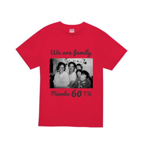 家族写真でデザインした60thオリジナルTシャツ