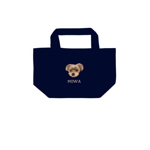 愛犬の写真を切り抜いてデザインしたオリジナルトートバッグ