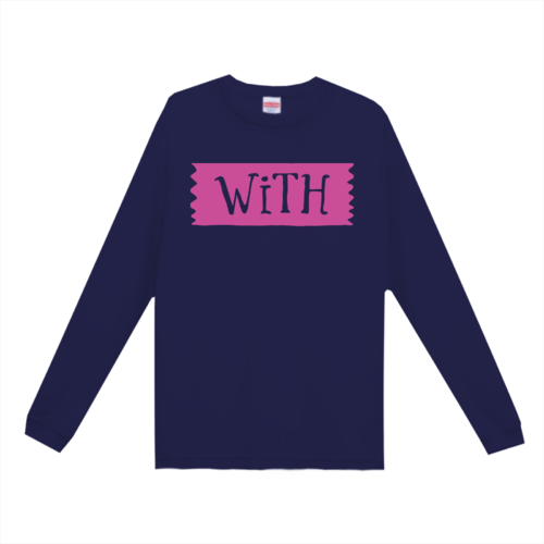 「WiTH」デザインのオリジナルTシャツ