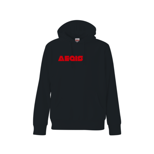 「AEGIS」文字デザインのオリジナルパーカー