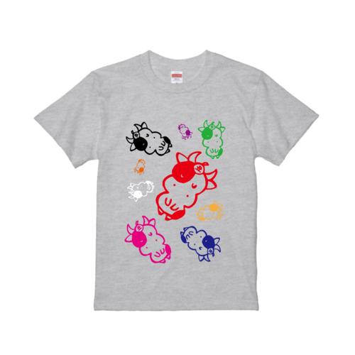 牛のイラストでデザインしたオリジナルTシャツ