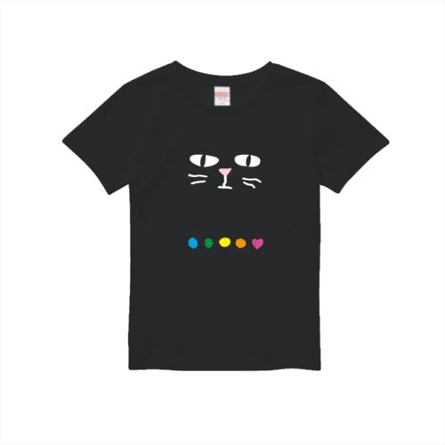 ネコのイラストでデザインしたオリジナルTシャツ