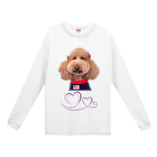 愛犬の写真を切り抜いてデザインしたオリジナルTシャツ