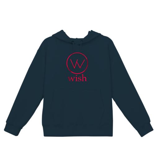 「wish」ロゴデザインのオリジナルパーカー