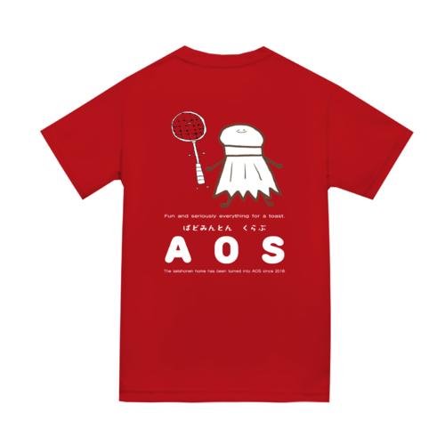 「ばどみんとんくらぶ AOS様」オリジナルTシャツデザイン