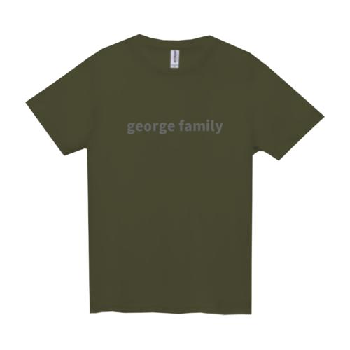 「george family」文字デザインのオリジナルTシャツ