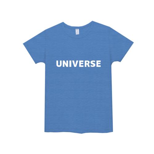 「UNIVERSE」文字デザインのオリジナルTシャツ