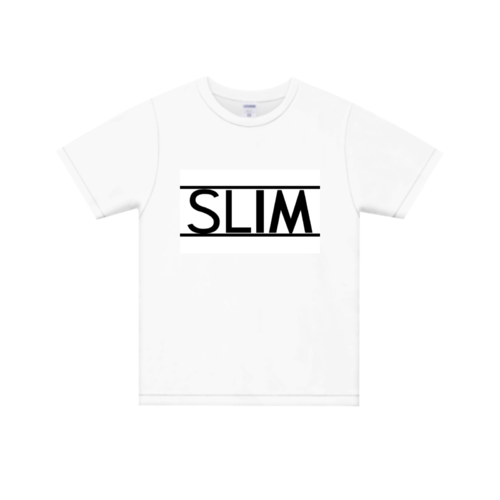 「SLIM」ロゴデザインのオリジナルTシャツ