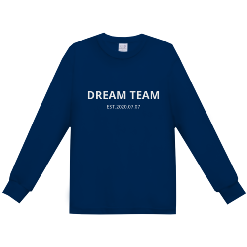 「DREAM TEAM」文字デザインのオリジナルTシャツ