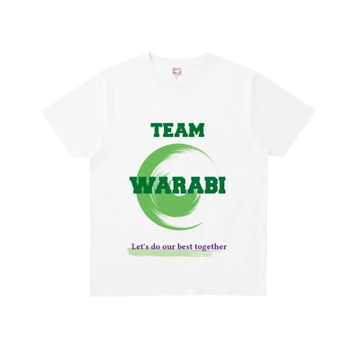 「TEAM WARABI様」のオリジナルTシャツデザイン