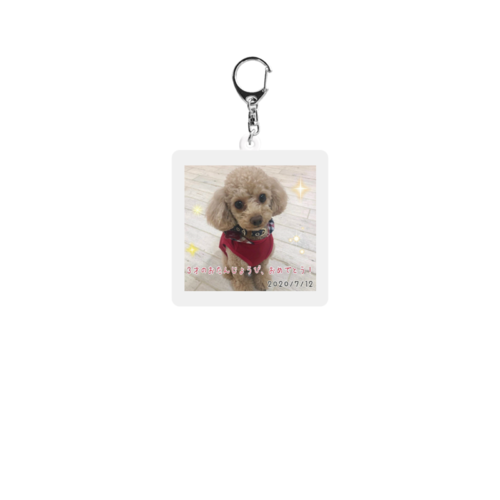 愛犬の誕生日デザインのオリジナルキーホルダー