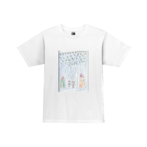 お子さんが描いた絵をプリントデザインしたオリジナルTシャツ