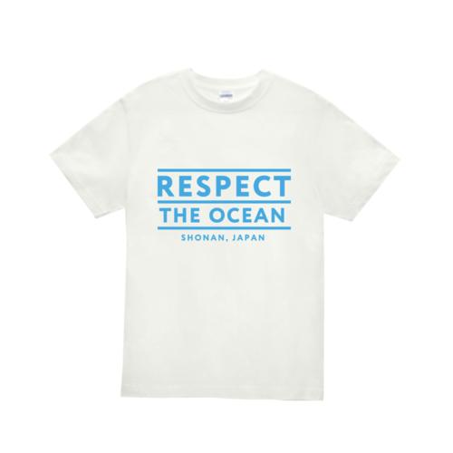 「RESPECT THE OCEAN」デザインのオリジナルTシャツ