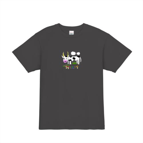 2021年の干支「牛」のイラストでデザインしたオリジナルTシャツ