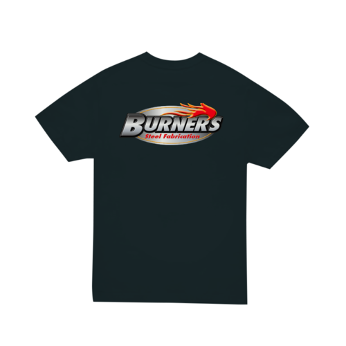 「BURNER'S steel fabrication様」のオリジナルロゴデザインのTシャツ