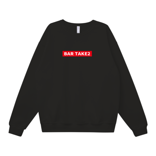 「BAR TAKE2」ボックスロゴデザインのオリジナルスウェット