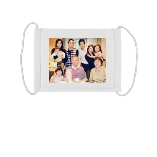 家族写真をプリントデザインしたオリジナルマスク