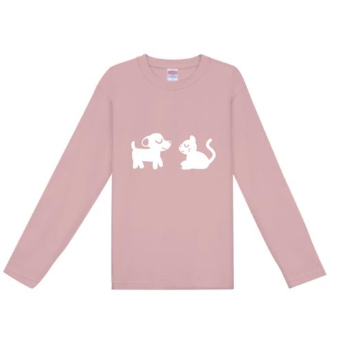 犬と猫のイラストでデザインしたオリジナルTシャツ
