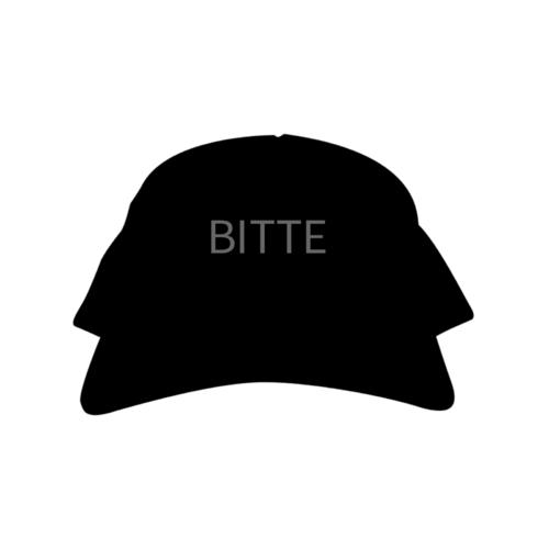 「BITTE」デザインのオリジナルキャップ