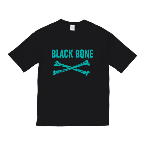 「BLACK BONE」ロゴデザインのオリジナルTシャツ