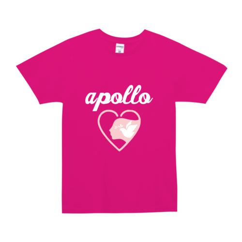 「apollo」文字とイラストデザインのオリジナルTシャツ
