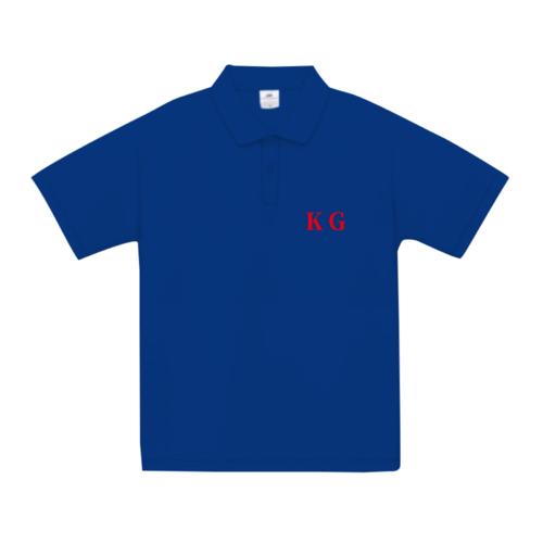「KG」の文字をワンポイントでデザインしたオリジナルポロシャツ