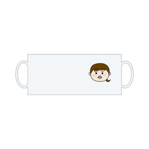 似顔絵イラストをワンポイントにデザインしたオリジナルマグカップ