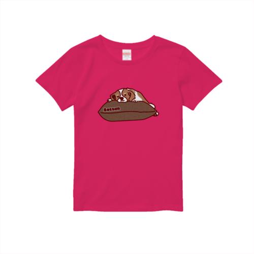 犬のイラストでデザインしたオリジナルTシャツ