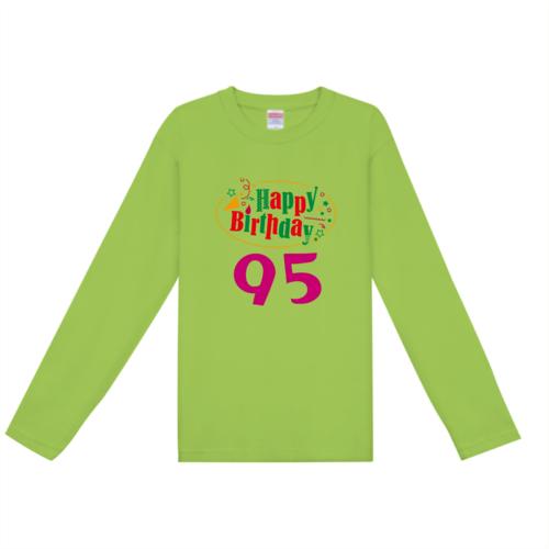 お誕生日のお祝いデザインのオリジナルTシャツ