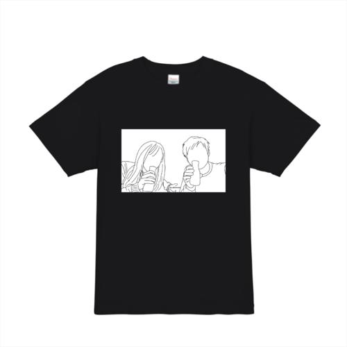 人物のイラストでデザインしたオリジナルTシャツ
