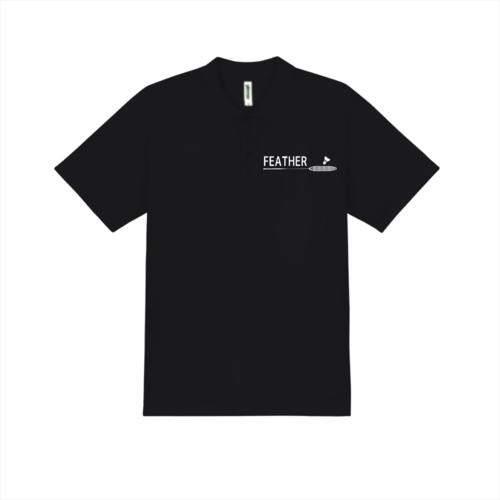 「FEATHER」デザインのオリジナルポロシャツ