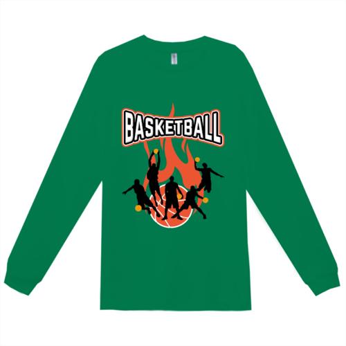 バスケットボールチームのオリジナルTシャツデザイン