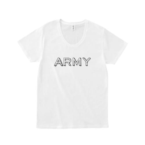 「ARMY」デザインのオリジナルTシャツ