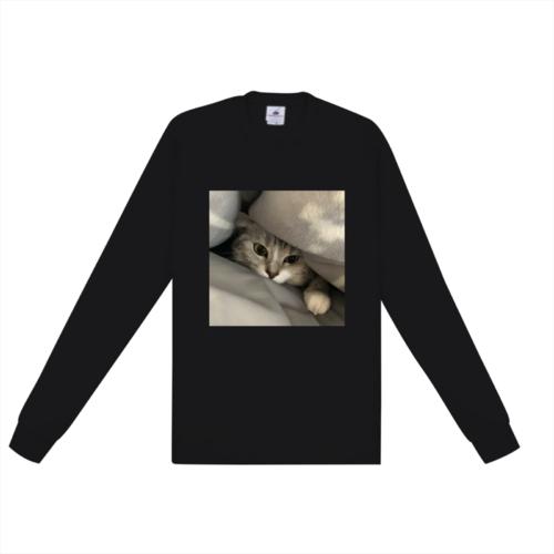 愛猫の写真をプリントしたオリジナルTシャツ