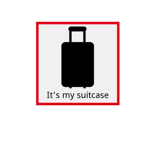 スーツケースの目印に!オリジナルデザインのステッカー