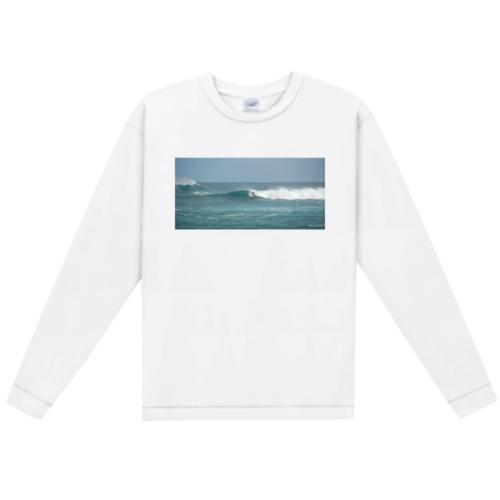 サーフィンの写真でデザインしたオリジナルTシャツ