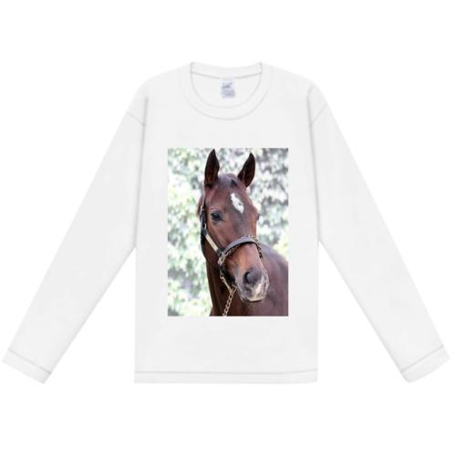 馬の写真をプリントしたオリジナルTシャツ