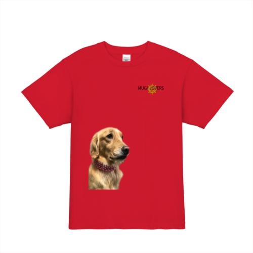可愛いペットの犬の写真でオリジナルTシャツプリント